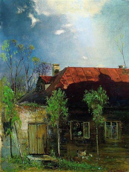 Little House in the province. Spring, 1878 - Aleksey Savrasov