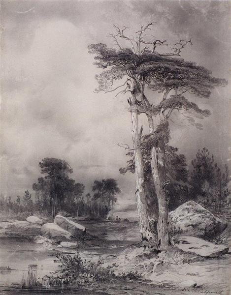 Old pine, 1854 - Aleksey Savrasov