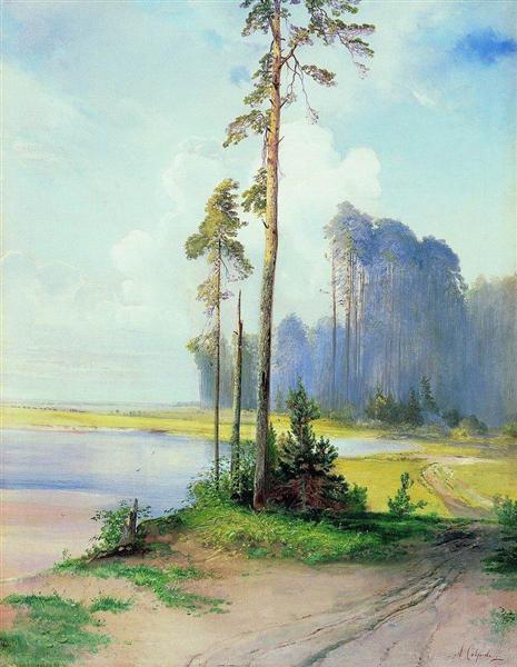 Summer landscape. Pines, c.1880 - Aleksey Savrasov