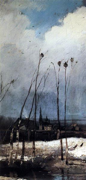 The Rooks Have Arrived, c.1880 - Alexeï Savrassov