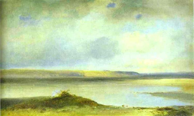 The Volga River. Vistas, c.1875 - Aleksey Savrasov