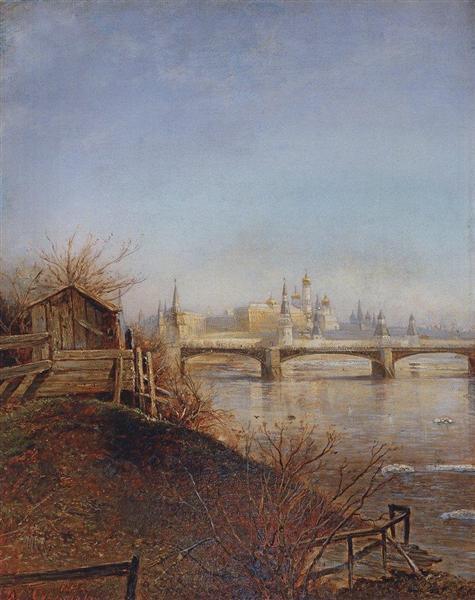 View of the Moscow Kremlin, 1873 - Aleksey Savrasov