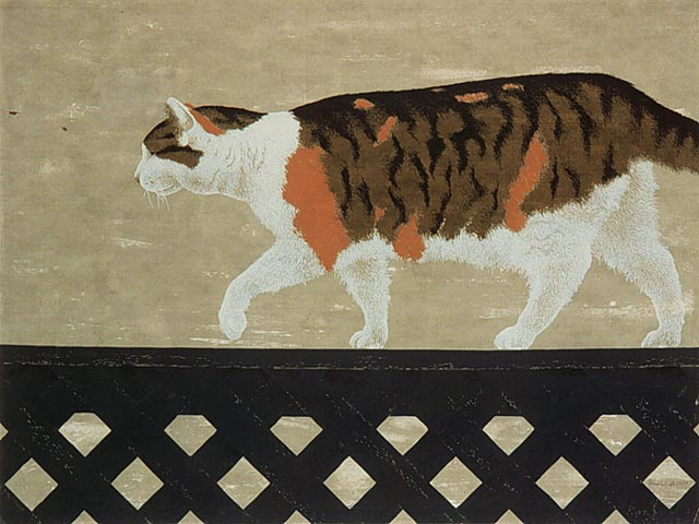 Cat on Fence, 1956 - Alex Colville
