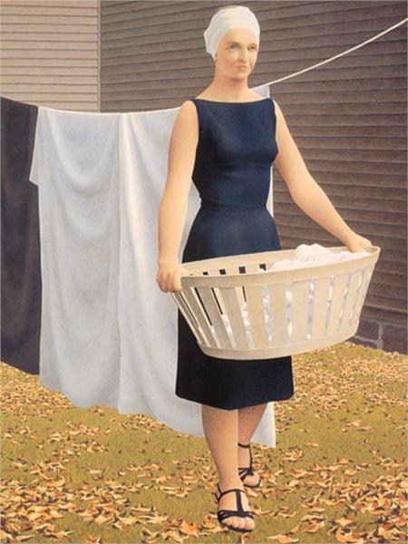 Woman at Clothesline, 1957 - Alex Colville