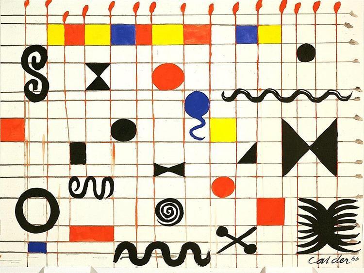 Grid With Symbols, 1966 - Alexander Calder