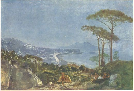 View of Naples from the road in Pozilippe
