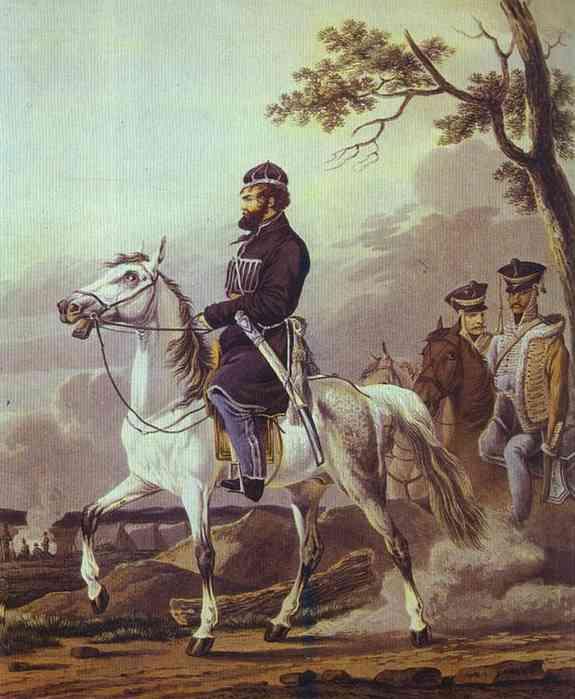 Portrait of Denis Davydov, 1814