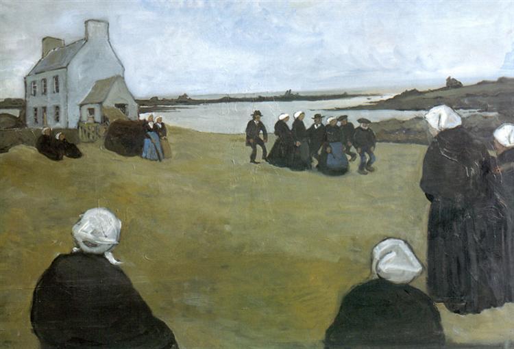 Breton dancing, 1906 - Alexandre Benois