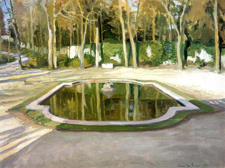 "Versailles. ""Mirror"" at Trianon, 1905 - Alexandre Benois"