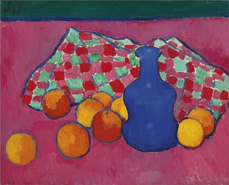 Blaue Vase mit Orangen, 1908 - Alexej von Jawlensky