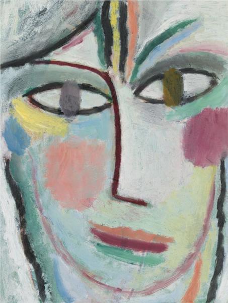 Head of a woman, Femina, 1922 - Alexej von Jawlensky