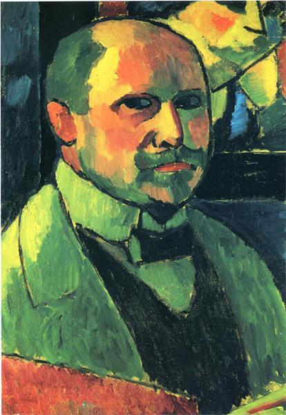 Self-portrait, 1912 - Alexej von Jawlensky