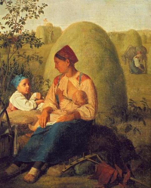 La producción de heno - Venetsianov Alexey