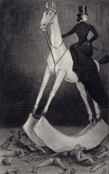 The Lady on the Horse, 1901 - Alfred Kubin
