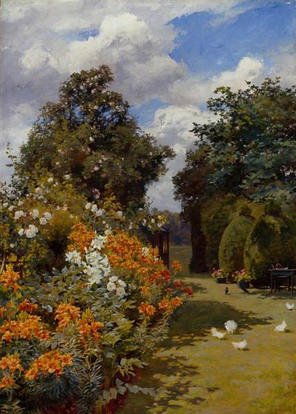 Orange Lilies, Broadway, Worcestershire - Alfred Parsons