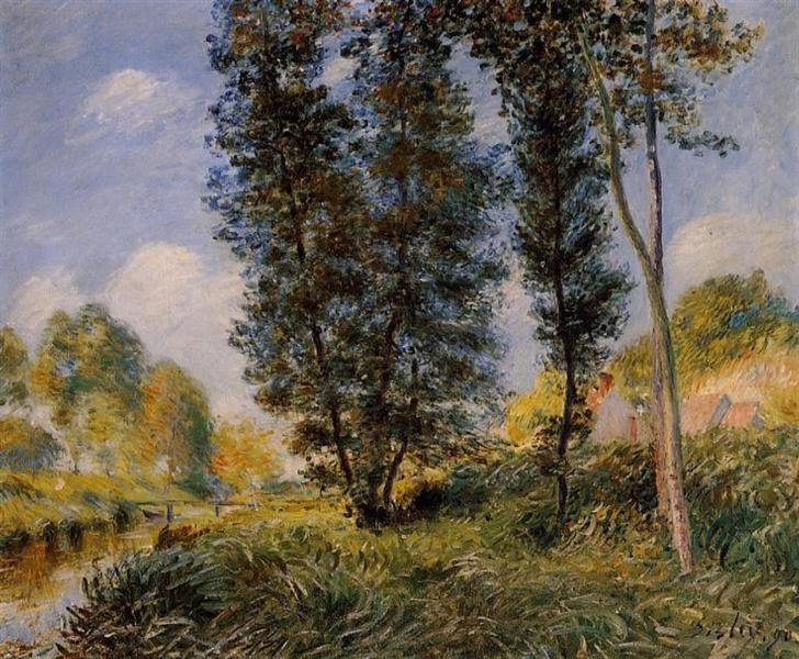 Banks of the Orvanne, 1890 - Alfred Sisley