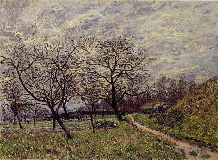 Between Veneux and By December Morning, 1882 - Alfred Sisley