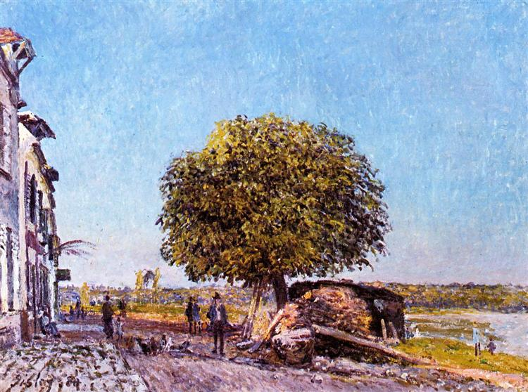 Chestnut Tree at Saint Mammes, 1880 - Alfred Sisley