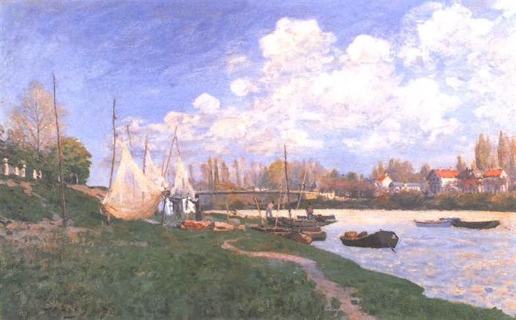 Drying Nets, 1872 - Alfred Sisley
