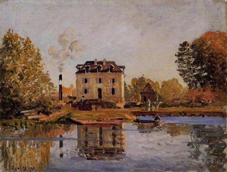 Factory in the Flood, Bougival, 1873 - Alfred Sisley