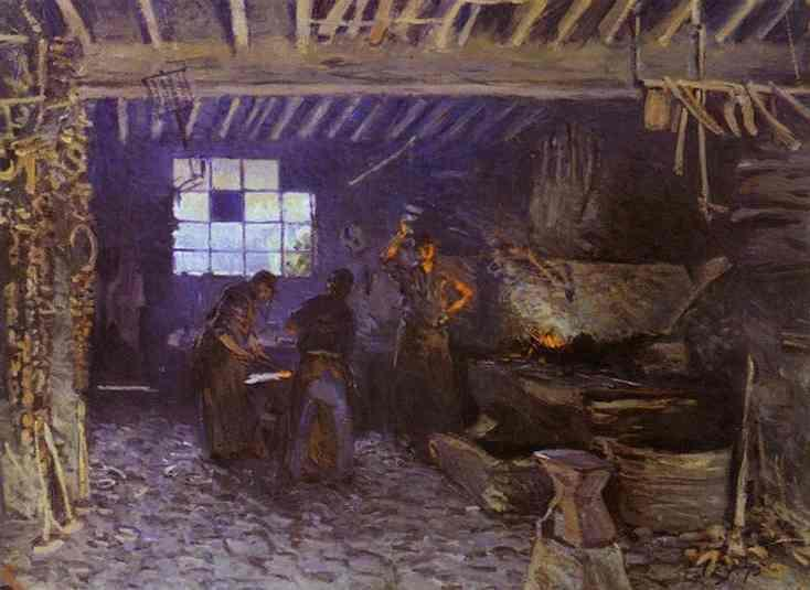 Forge at Marly le Roi, 1875 - Alfred Sisley