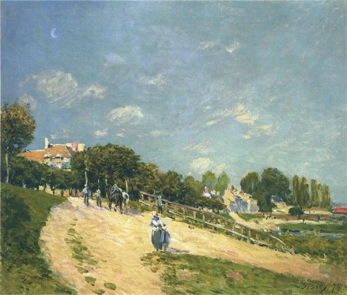 Landscape at Andresy, 1875 - Alfred Sisley