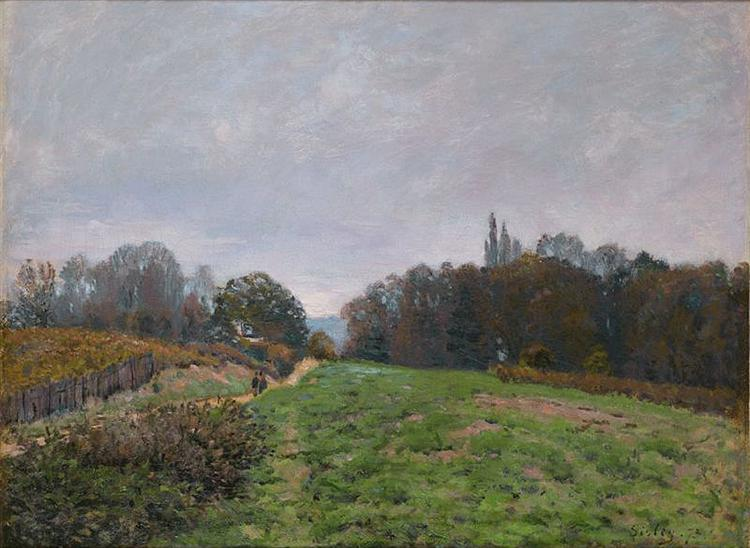 Landscape at Louveciennes, 1873 - Alfred Sisley