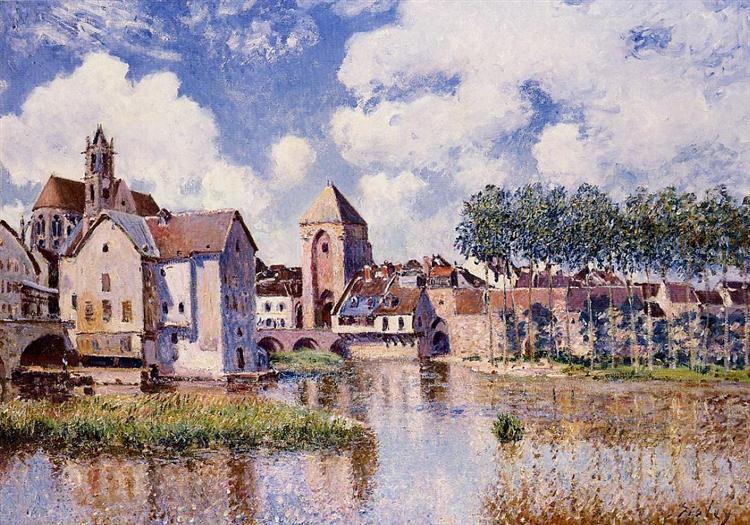 Moret sur Loing the Porte de Bourgogne, 1891 - Alfred Sisley