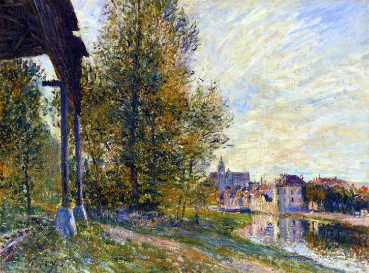 Near Moret sur Loing, 1881 - Alfred Sisley