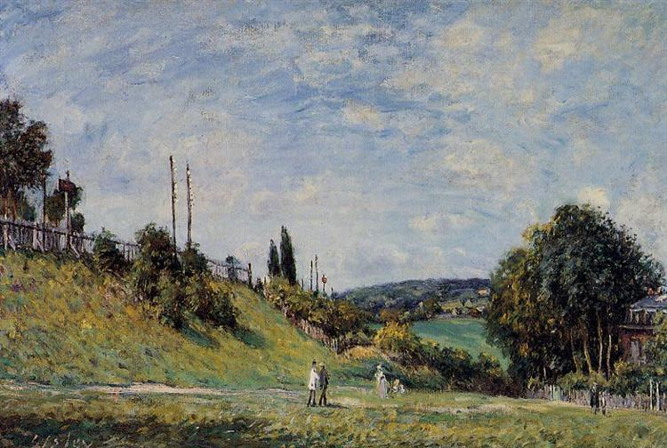 Railroad Embankment at Sevres, 1879 - Alfred Sisley