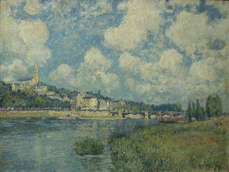 Saint Cloud, 1877 - Alfred Sisley