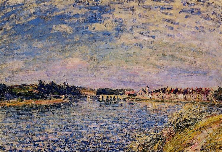 Saint Mammes Evening, 1885 - Alfred Sisley