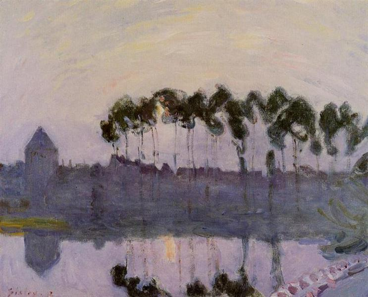 Setting Sun at Moret, 1892 - Alfred Sisley