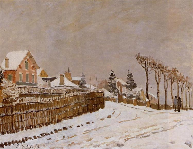 Snow at Louveciennes, 1873 - Alfred Sisley