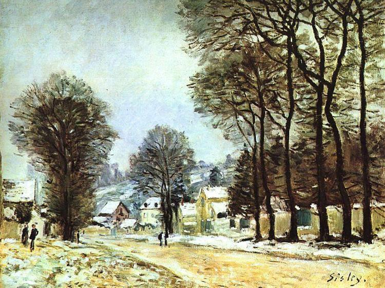 Snow at Louveciennes, 1874 - Alfred Sisley