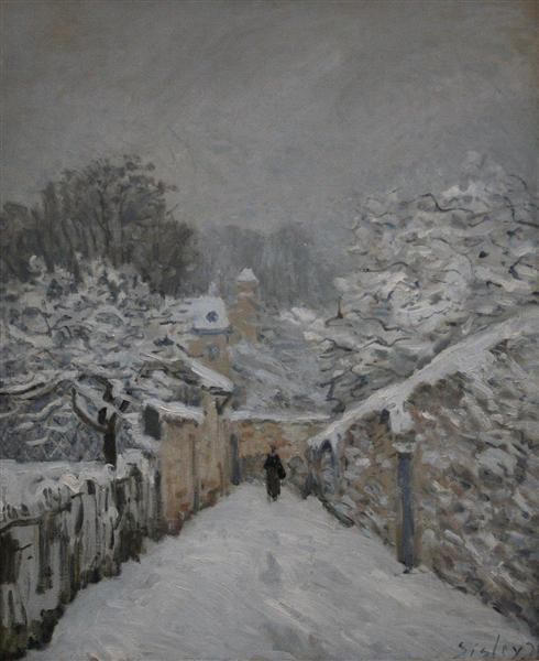 Snow at Louveciennes, 1878 - Alfred Sisley