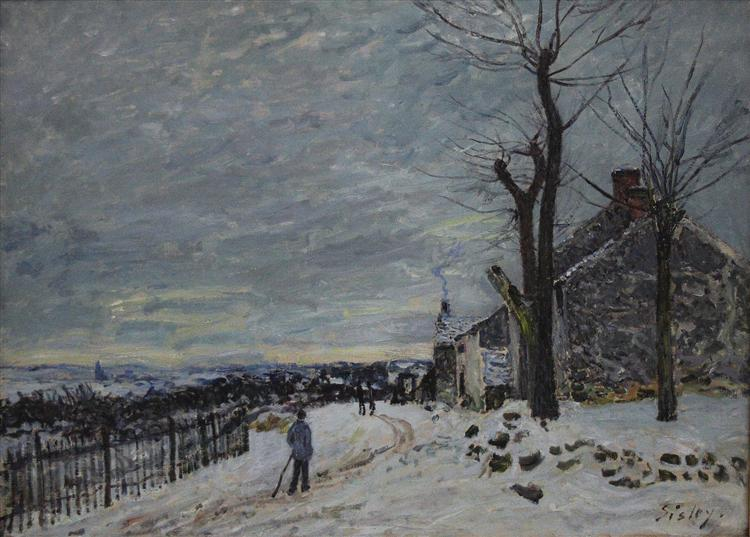 Snowy Weather at Veneux Nadon, 1880 - Alfred Sisley