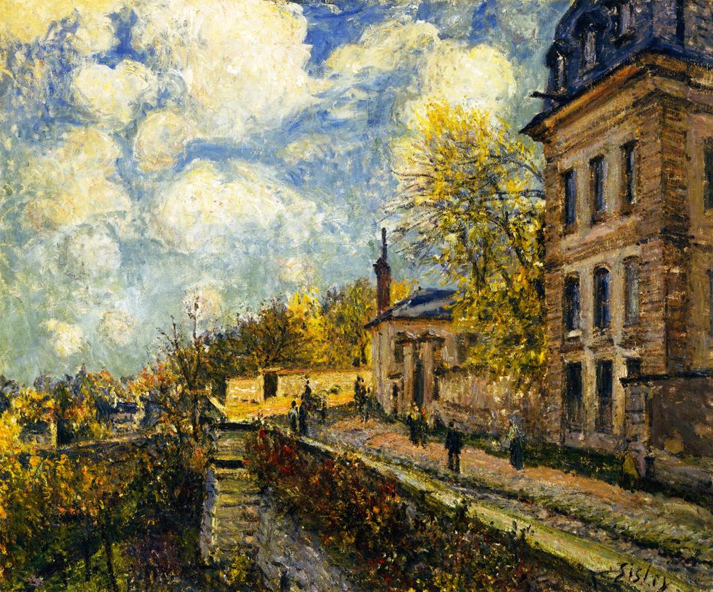Alfred Sisley, (1839 - 1899) The-factory-at-sevres-1879