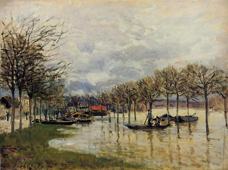 The Flood on the Road to Saint Germain, 1876 - Alfred Sisley