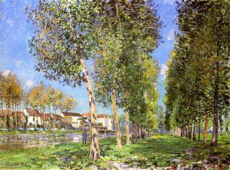 The Lane of Poplars at Moret Sur Loing, 1888 - Alfred Sisley