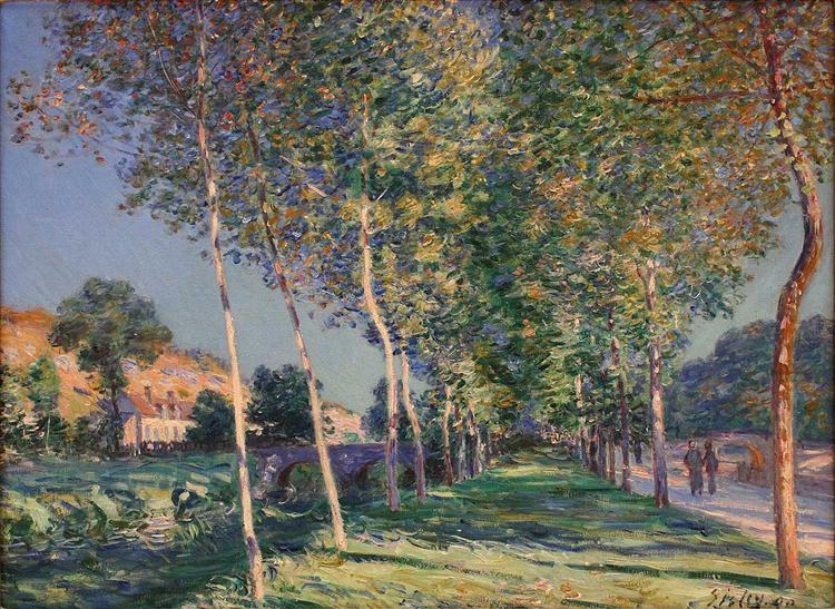 The Lane of Poplars at Moret sur Loing, 1890 - Alfred Sisley