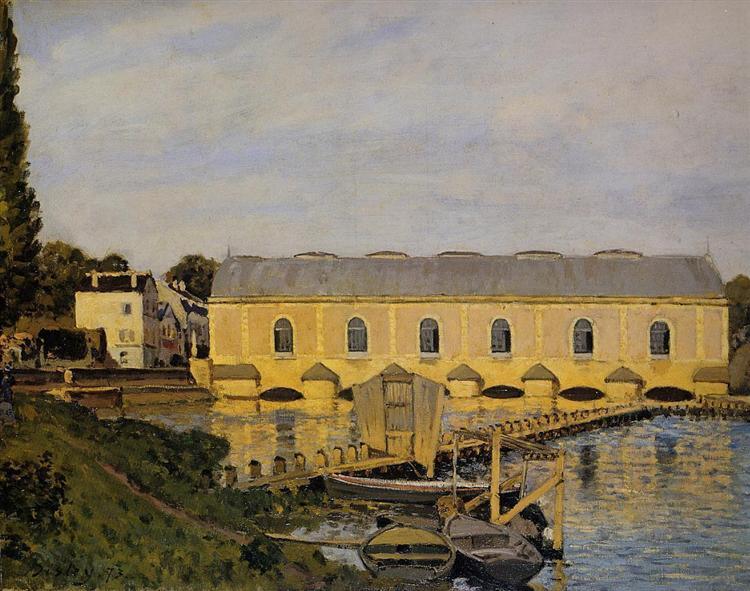 The Machine at Marly, 1873 - Alfred Sisley
