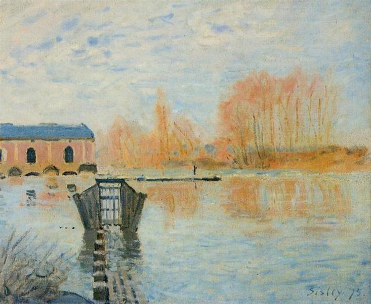 The Marly Machine and the Dam, 1875 - Alfred Sisley