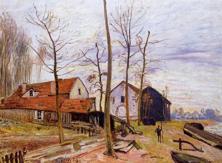 The Mills of Moret, Sunrise, 1889 - Alfred Sisley