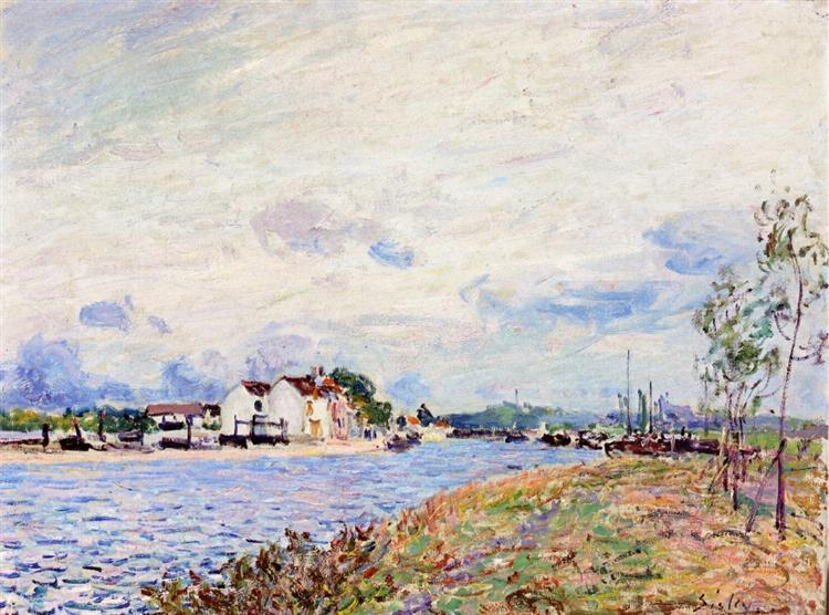 The Mouth of the Loing at Saint Mammes, 1885 - Alfred Sisley