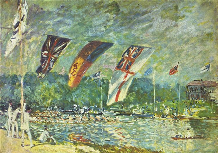 The regattas Moseley - Alfred Sisley