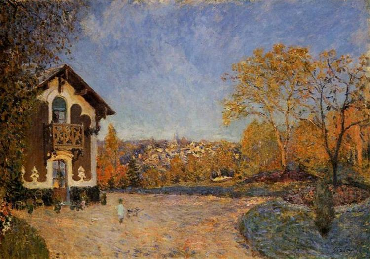 View of Marly le Roi from House at Coeur Colant, 1876 - Alfred Sisley