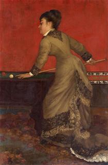 Elegant at Billiards - Alfred Stevens