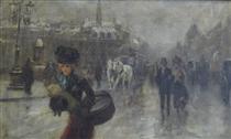 Elegant on the Boulevards - Alfred Stevens