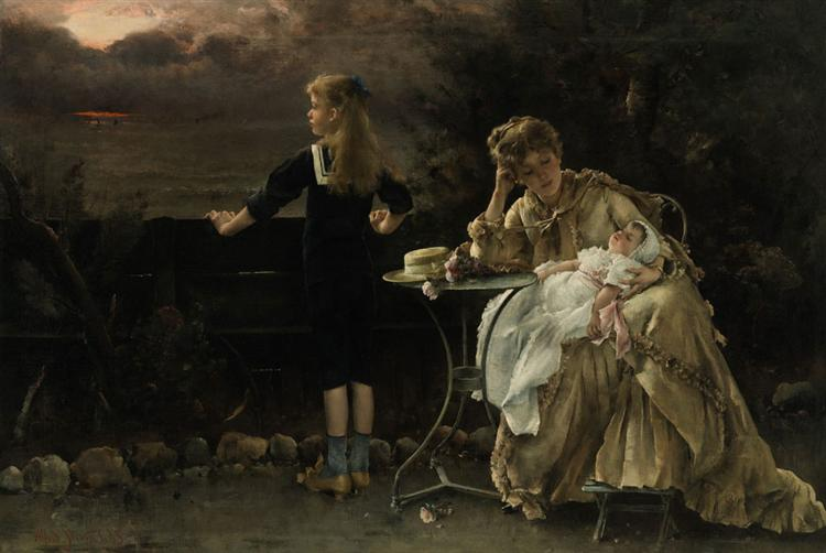 Mother and Children, 1887 - Alfred Stevens